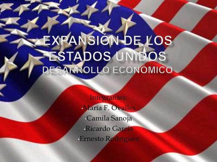 Integrantes: •María F. Ovalles   •Camila Sanoja  •Ricardo García•Ernesto Rodríguez