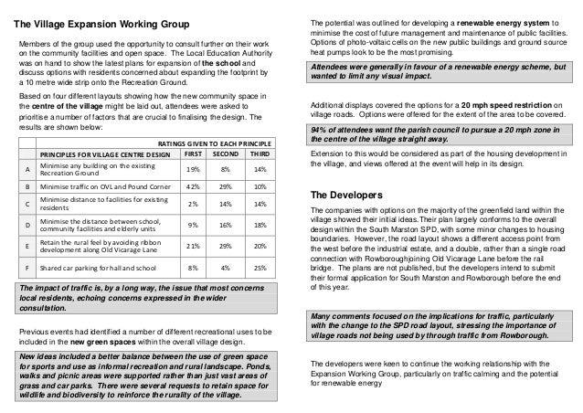 South Marston Expansion Leaflet Sept 2013