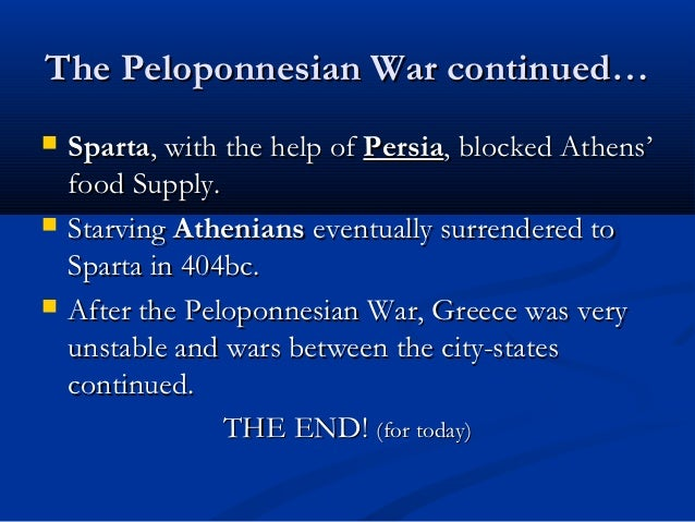 an analysis of cause of the peloponessian war Get an answer for 'what is an analysis of history of the peloponnesian war' and find homework help for other history of the peloponnesian war questions at enotes.
