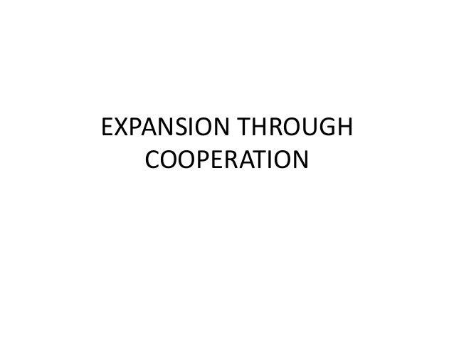 Expansion through cooperation 2013