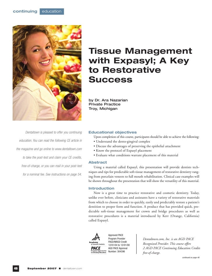 continuing             education                                                           Tissue Management              ...
