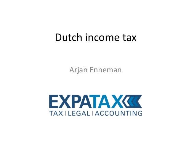 Dutch income tax Arjan Enneman