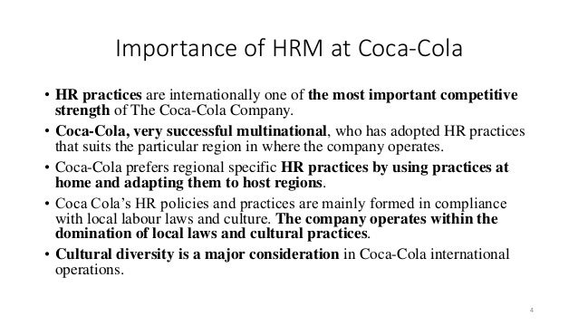 globalization innovation and diversity within coca coca co Product innovation of coca-cola  globalization and the changes  product innovation is a core process within an organization associated with.