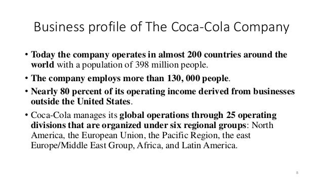 coca cola customer profile Supplier and customer partnerships share: coca-cola retailing research councils in africa, asia, europe, latin america and north america.