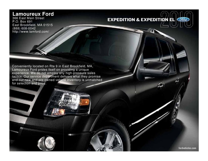 Lamoureux Ford 366 East Main Street P.O. Box 691                                                 EXPEDITION & EXPEDITION E...