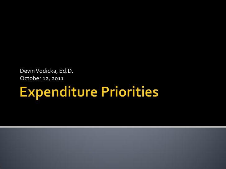 Expenditure Priorities