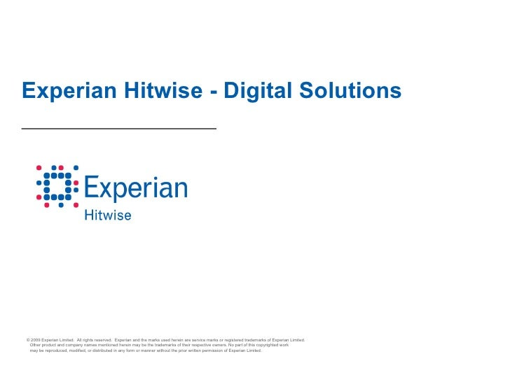 """Being creative with data"" 25th November - Experian Hitwise presentation"