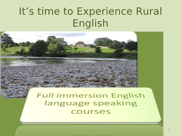 It's time to Experience Rural             English                                     1