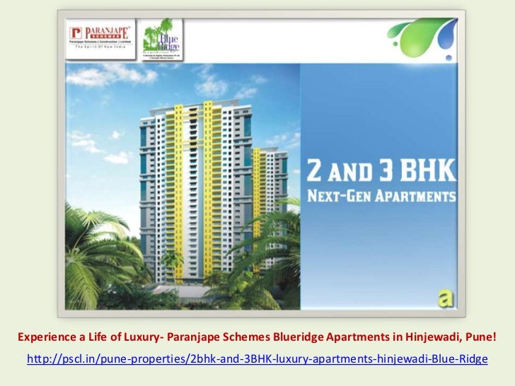 Experience a Life of Luxury- Paranjape Schemes Blueridge Apartments in Hinjewadi, Pune! http://pscl.in/pune-properties/2bh...