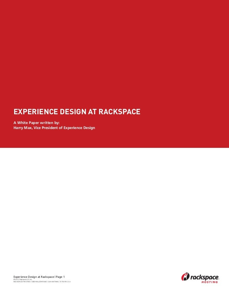 Experience Design at Rackspace