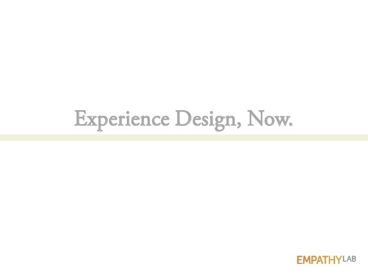 The Experience Design Process (for Responsive Design)