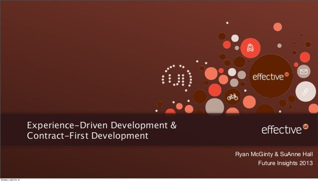 Experience Driven Development - Future Insights Live 2013