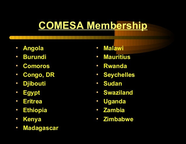 Overview of COMESA