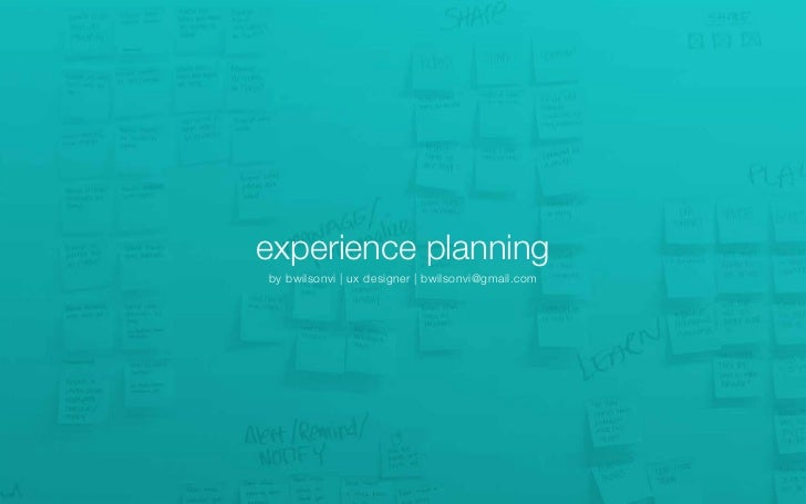 Experience Planning