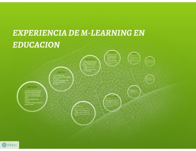 EXPERIENCIA DE M-LEARNING EN EDUCACION