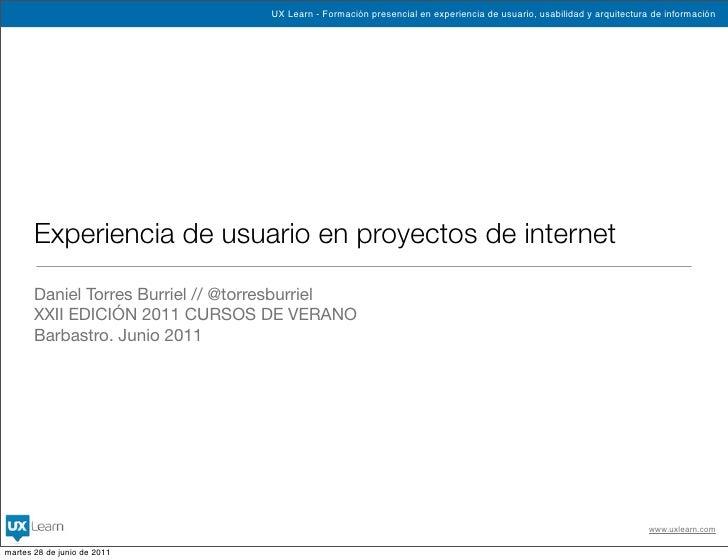Experiencia de usuario en proyectos de internet