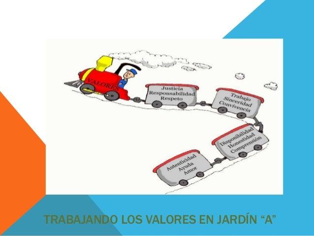 """TRABAJANDO LOS VALORES EN JARDÍN """"A"""""""