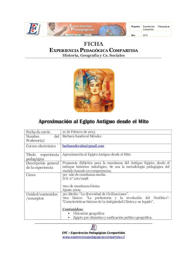 Proyecto   Experiencias   Pedagógicas                                                                               Compar...