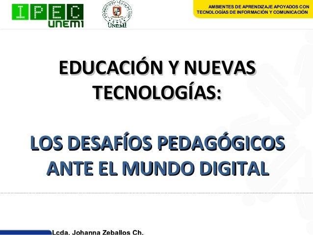 Experiencias educativas con las nuevas tecnologias