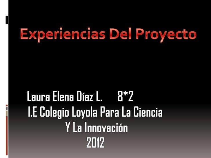 Mis experiencias en el proyecto de antecedentes de los estudiantesdurante las dos primeras semanas en la institución fuero...