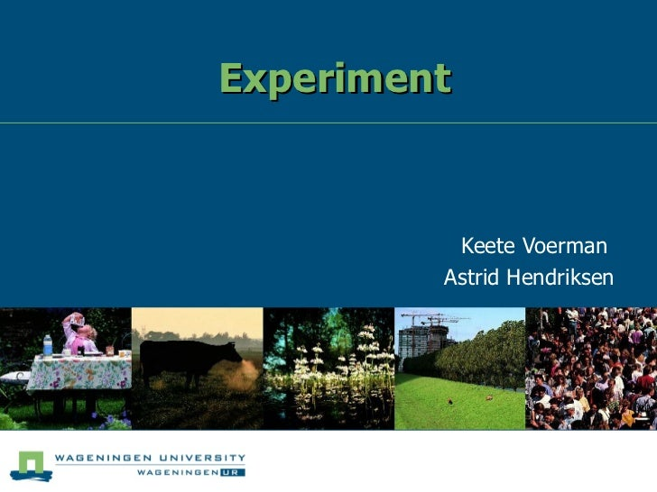 Experiment Keete Voerman  Astrid Hendriksen