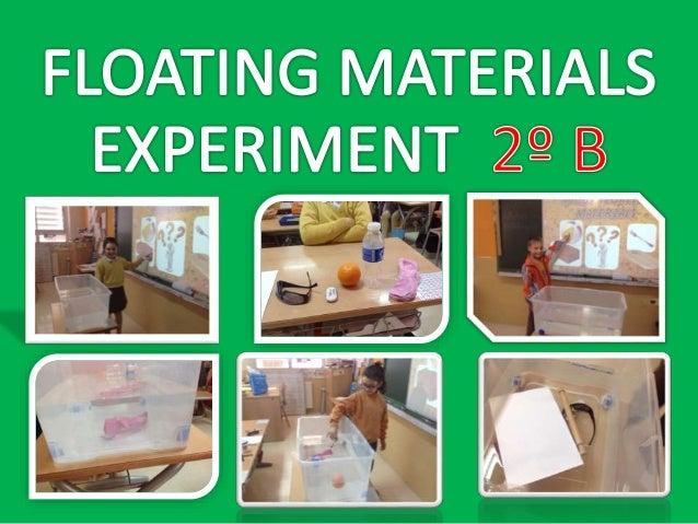 FLOATABILITY EXPERIMENT (2º B)