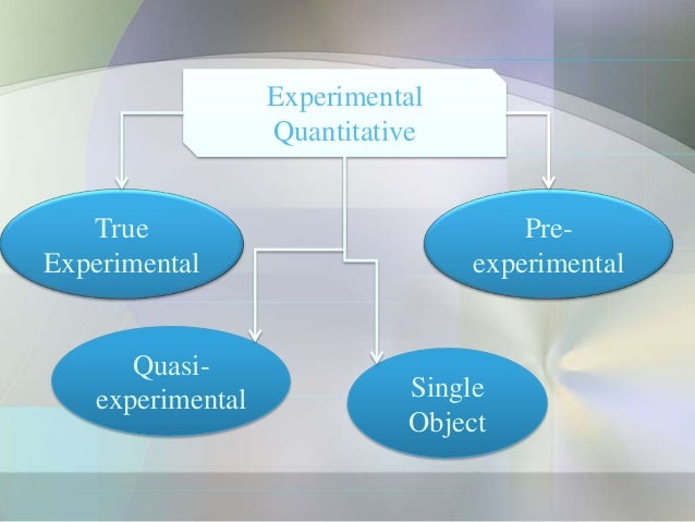 Experimental                  Quantitative   True                              Pre-Experimental                     experi...