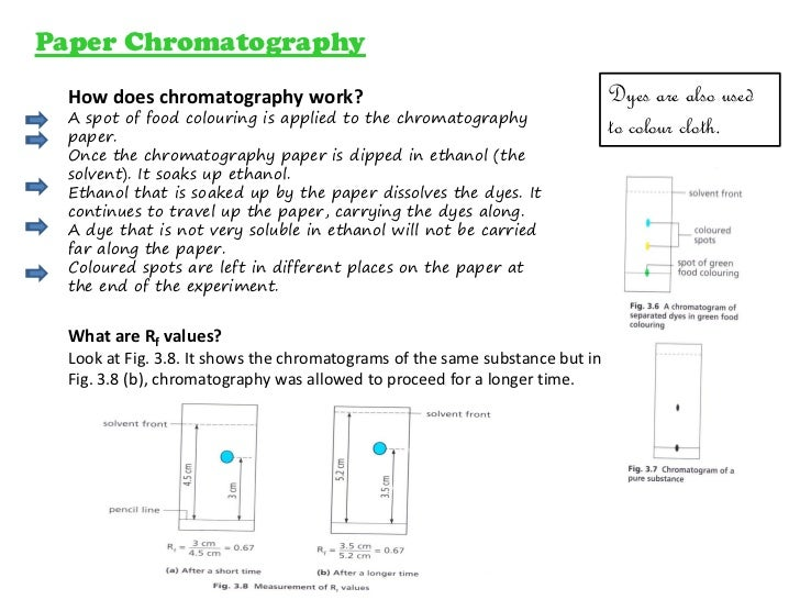 How does paper chromatography work to separate mixtures