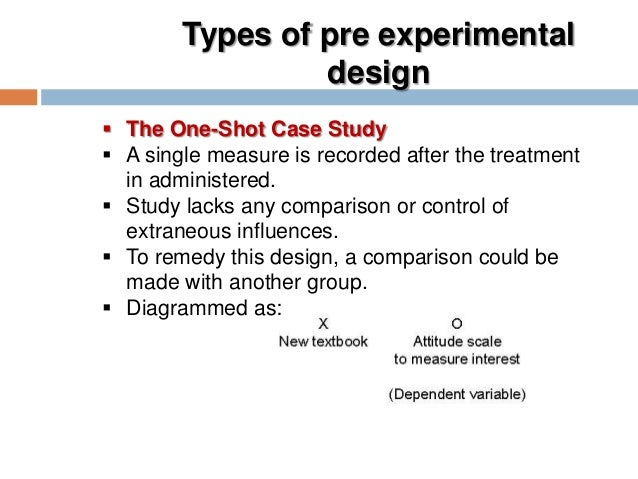 pengertian one shot case study design