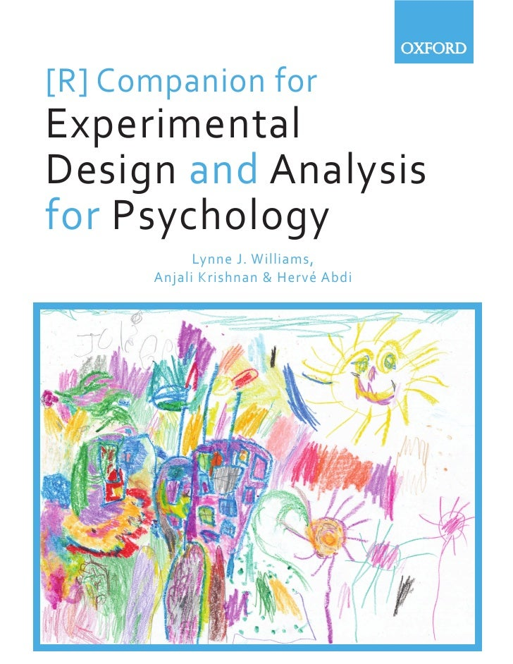 Experimental Design And Analysis Of Psychology