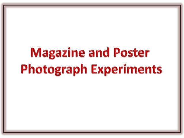 Experimental photographs