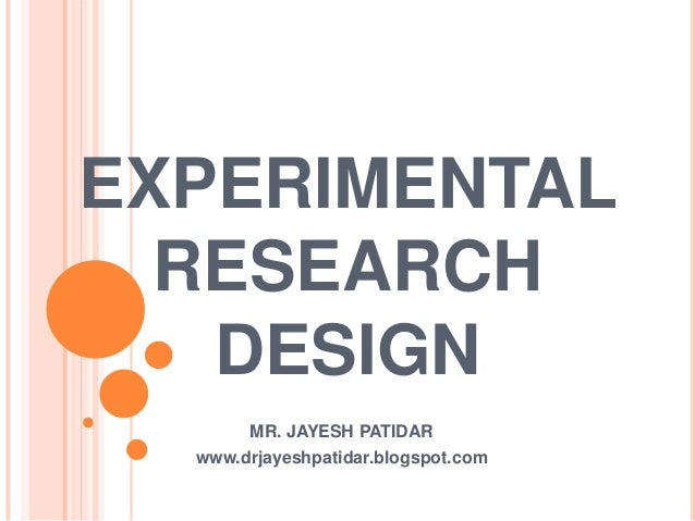 Experimental design in research paper