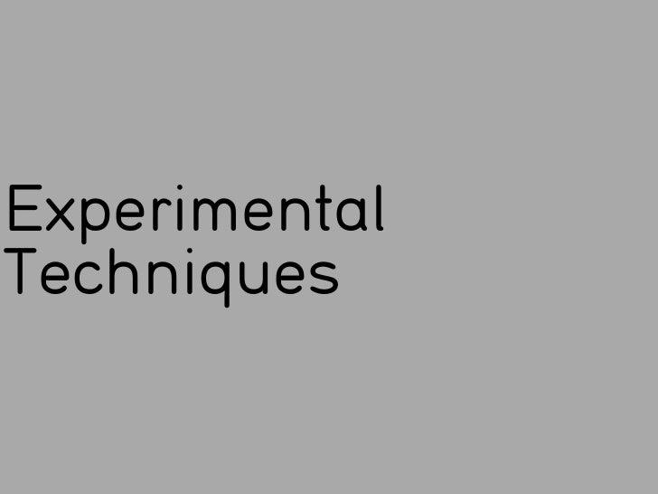 ExperimentalTechniques