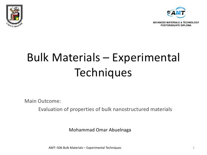 ADVANCED MATERIALS & TECHNOLOGY                                                                  POSTGRADUATE DIPLOMABulk ...