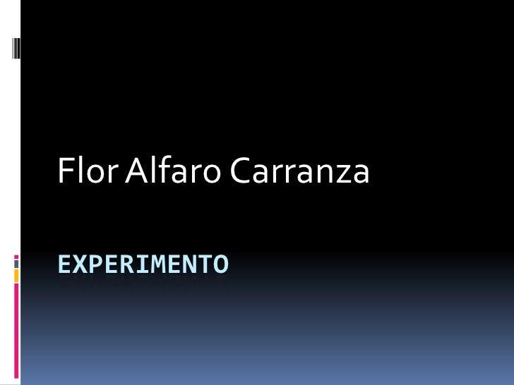 Flor Alfaro CarranzaEXPERIMENTO
