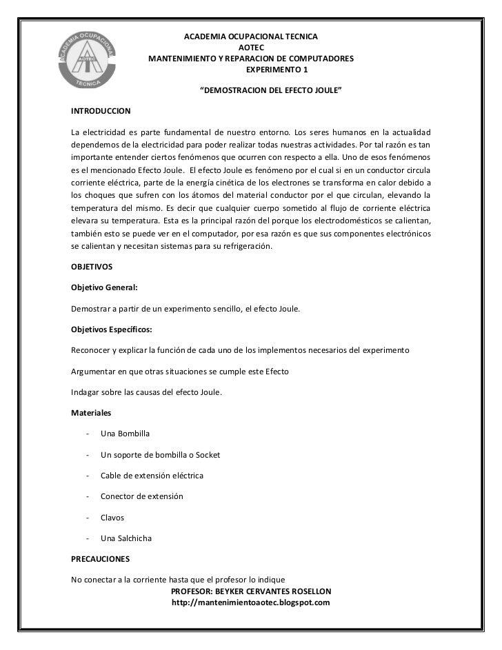 ACADEMIA OCUPACIONAL TECNICA                                        AOTEC                     MANTENIMIENTO Y REPARACION D...