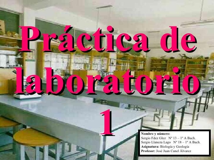 Práctica de  laboratorio  1 Nombre y número:   Sergio Fdez Glez  Nº 13 – 1º A Bach. Sergio Llaneza Lago  Nº 18 – 1º A Bach...