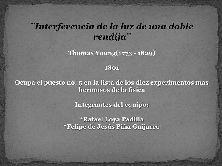 Experimento de Thomas Young