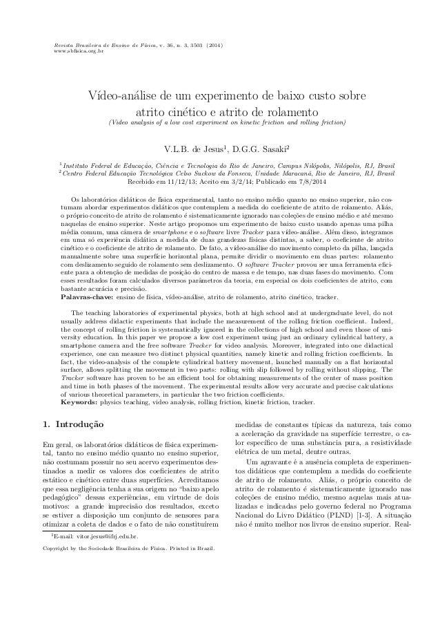 Revista Brasileira de Ensino de Fsica, v. 36, n. 3, 3503 (2014)  www.sb