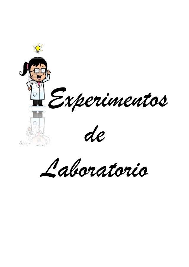 2013  Experimentos de Laboratorio