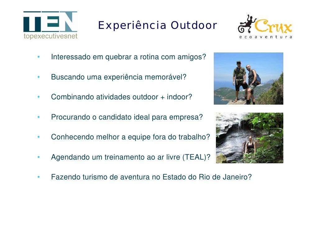 Experiência Outdoor  •   Interessado em quebrar a rotina com amigos?  •   Buscando uma experiência memorável?  •   Combina...