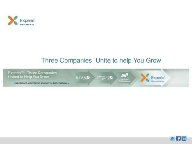 Experis - three companies united to help you grow