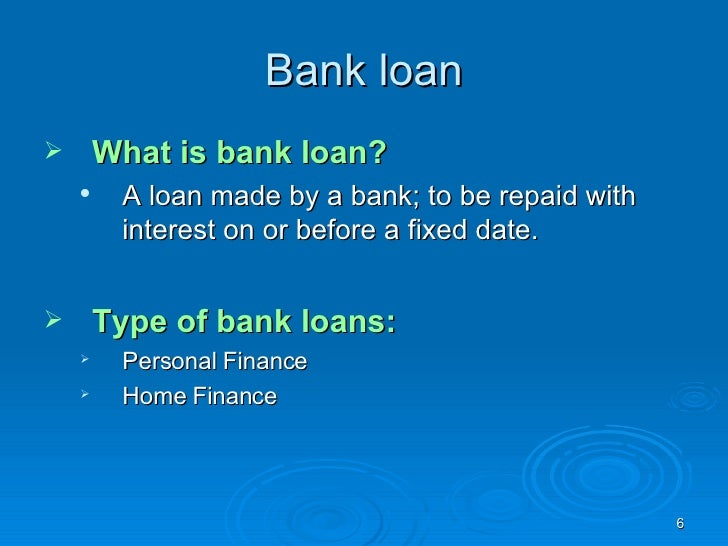 how to ask bank for a loan
