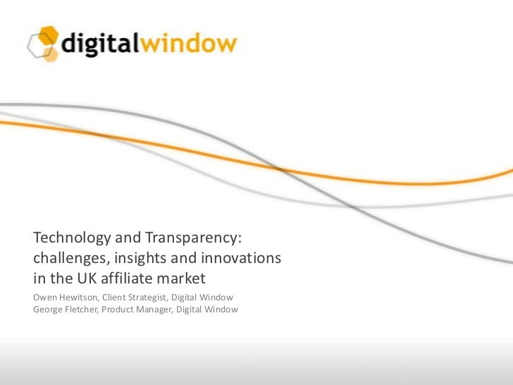 Technology and Transparency: Challenges, Insights and Innovations in the UK Affiliate Market