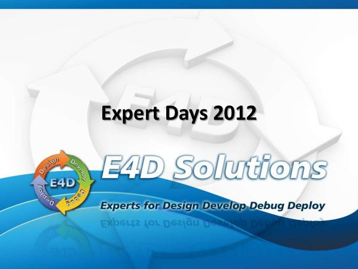 Expert Days 2012