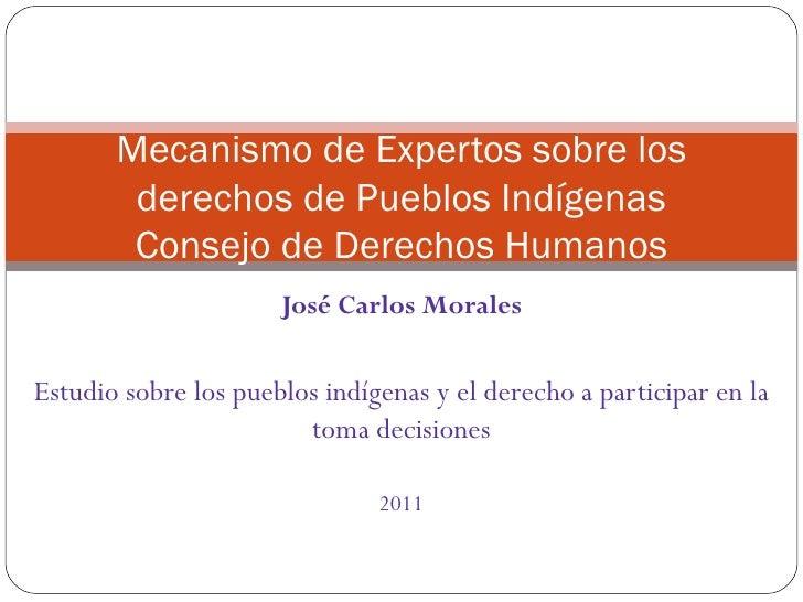 Mecanismo de Expertos sobre los derechos de Pueblos Indígenas - Consejo de Derechos Humanos