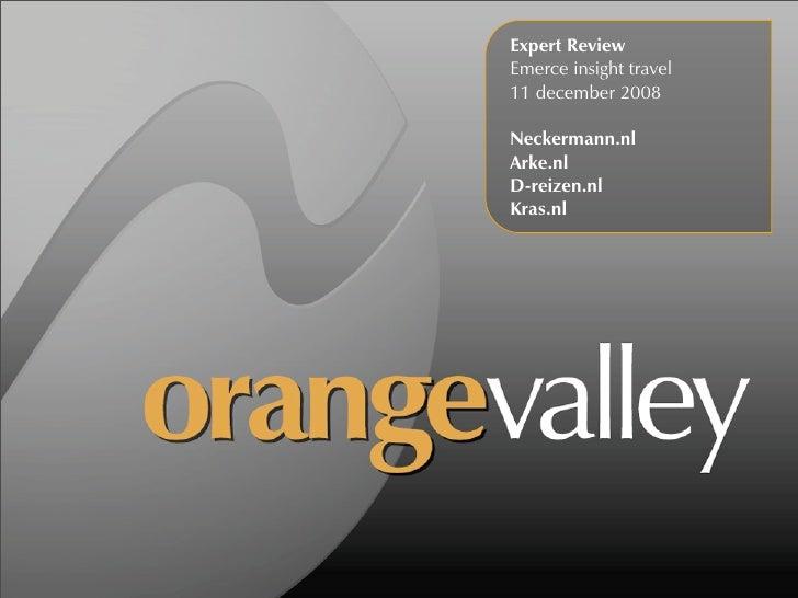 Emerce Travel 2008: OrangeValley expert review