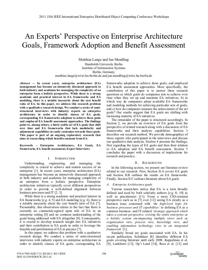 2011 15th IEEE International Enterprise Distributed Object Computing Conference Workshops     An Experts' Perspective on E...