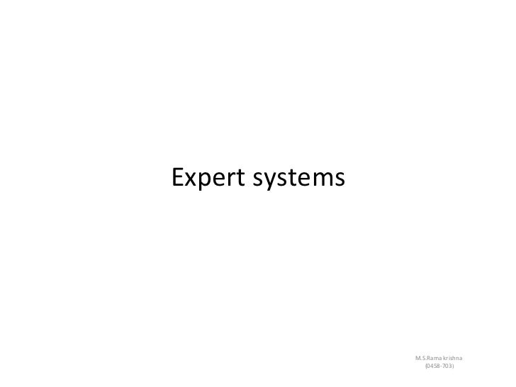 Expert systems from rk