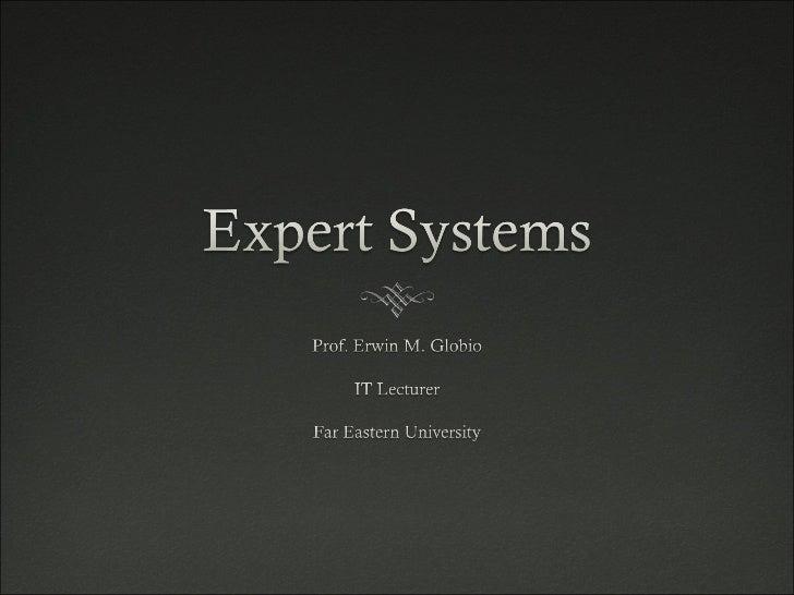 Expert System Seminar